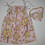 Pillowcase Style Dress with Matching Headkerchief